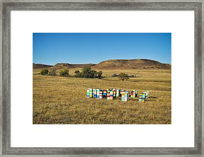 Framed Print featuring the photograph A Great Place To Bee by Carl Young