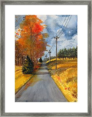 A Happy Autumn Day Framed Print