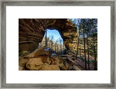 A Hole In Time Framed Print