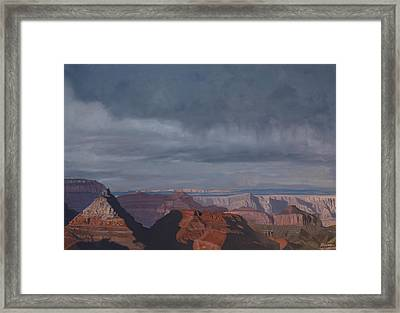A Little Rain Over The Canyon Framed Print