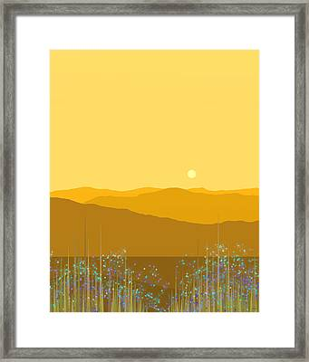 A Mountain Meadow Framed Print