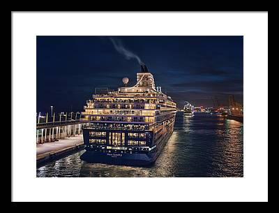 Cruise Ship Framed Prints