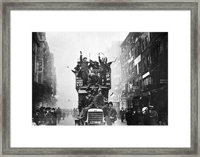 A Peace Bus Framed Print by Topical Press Agency