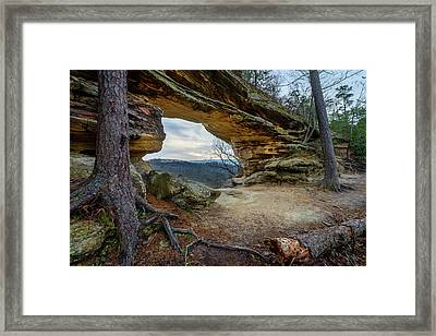 A Portal Through Time Framed Print
