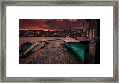 A Quiet Moment - Cornwall Framed Print