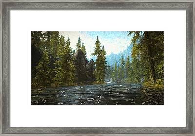 A River Flows Thru It Framed Print