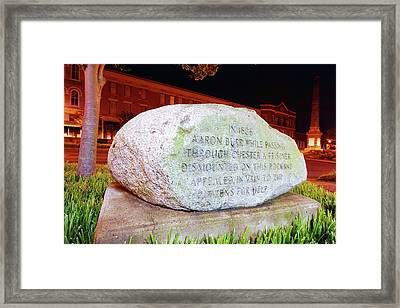 Framed Print featuring the photograph A Rock In Chester by Joseph C Hinson Photography