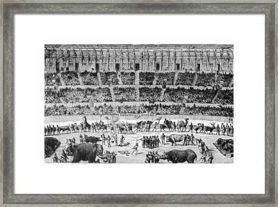 A Roman Circus Framed Print by Hulton Archive