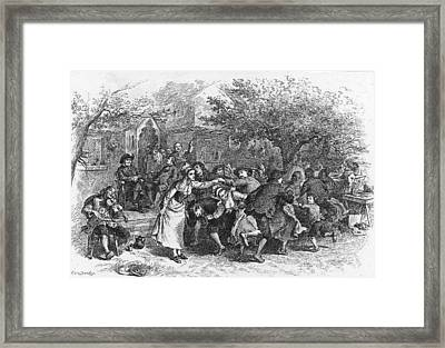 A Scene From Evangeline Framed Print by Kean Collection