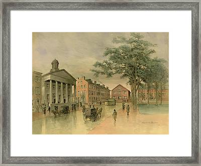 A Southwestern View Of Washington Square Framed Print