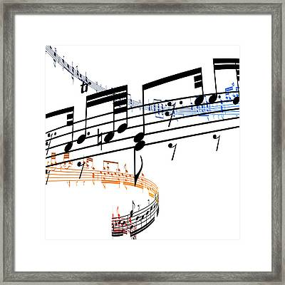 A Stave Of Music Framed Print by Ian Mckinnell
