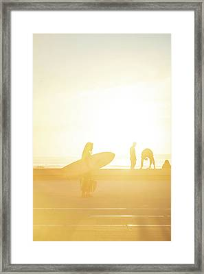 Framed Print featuring the photograph A Surf Board by Bruno Rosa
