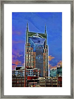 A T And T Building A K A The  Batman Building # 3 - Nashville  Framed Print