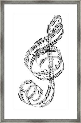 A Treble Clef Made From Beethovens Framed Print