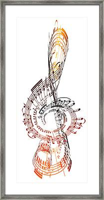 A Treble Clef Made From Sheet Music Framed Print by Ian Mckinnell