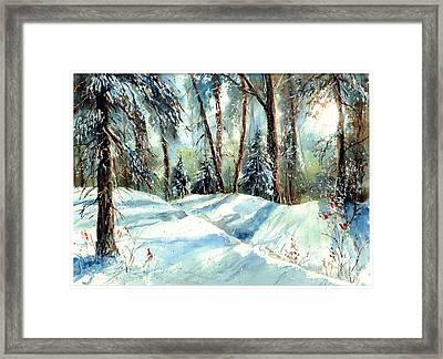 A True Winter Wonderland Framed Print