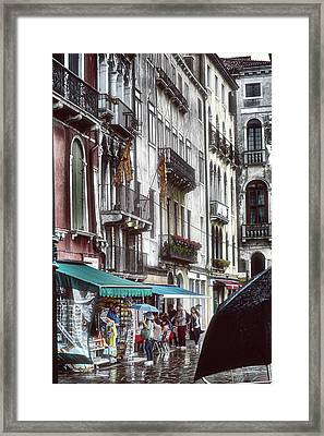 A Typical Venetian Day Framed Print