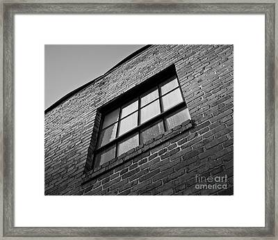 Framed Print featuring the photograph A Winston Window by Patrick M Lynch