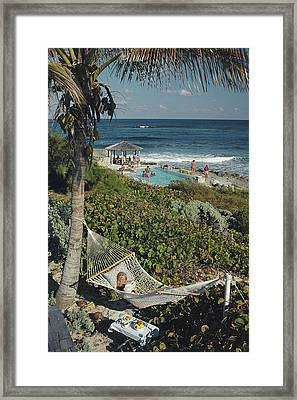 Abaco Holiday Framed Print by Slim Aarons