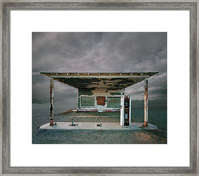 Abandoned Gas Station, Niland Ca Framed Print