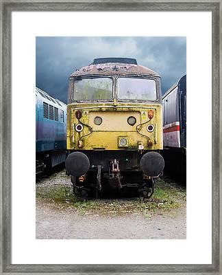 Abandoned Yellow Train Framed Print
