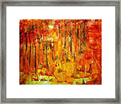 Framed Print featuring the painting Ablaze by 'REA' Gallery