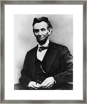Abraham Lincoln Portrait Framed Print by Alexander Gardner