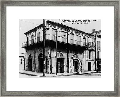 Absinthe House Framed Print by General Photographic Agency