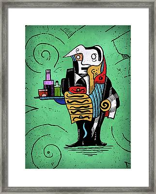 Framed Print featuring the painting Absinthe by Sotuland Art