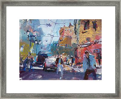 Abstract Cityscape Painting Framed Print