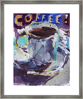 Abstract Coffee Cup Print Framed Print