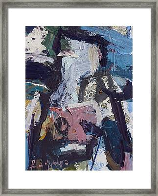 Abstract Cow Print Framed Print