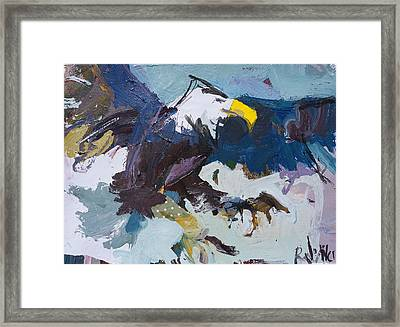 Abstract Eagle Painting Framed Print