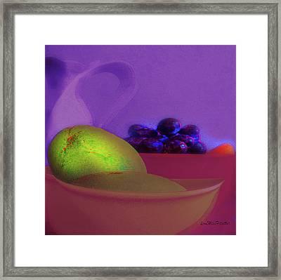 Abstract Fruit Art  109 Framed Print