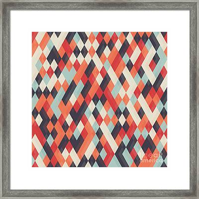 Abstract Geometric Background For Framed Print by Churunchik