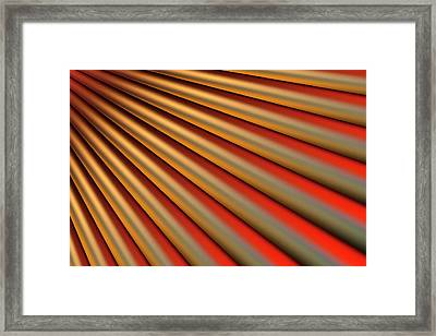 Abstract Line Pattern Framed Print by Ralf Hiemisch