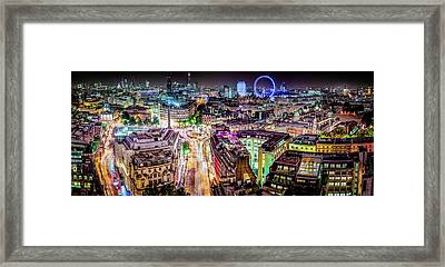 Framed Print featuring the photograph Abstract London by Stewart Marsden