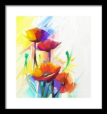 Impressionist Digital Art Framed Prints