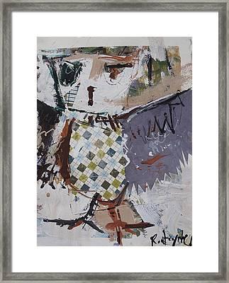 Abstract Owl Art Framed Print