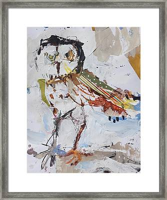 Abstract Owl Painting Framed Print