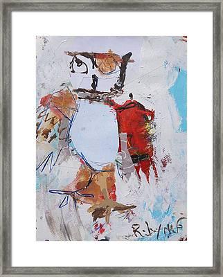 Abstract Owl Print Framed Print