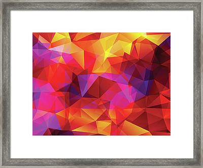 Abstract  Polygonal  Background Framed Print by Carduus