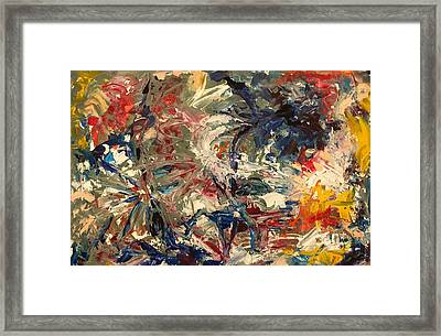 Framed Print featuring the painting Abstract Puzzle by Nicolas Bouteneff