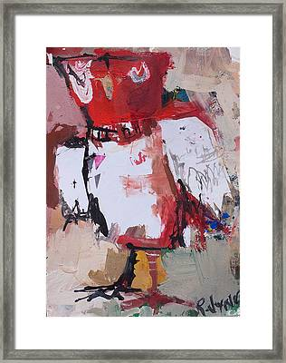 Abstract Red Owl Framed Print