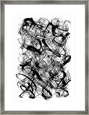 Abstract Script Framed Print