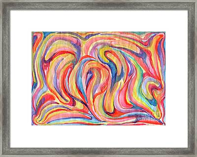 Abstraction In Autumn Colors Framed Print