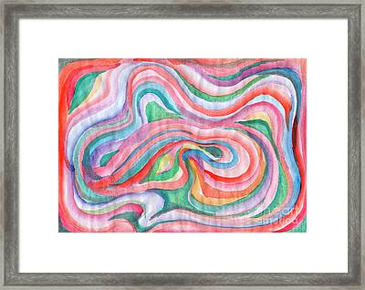 Abstraction In Spring Colors Framed Print