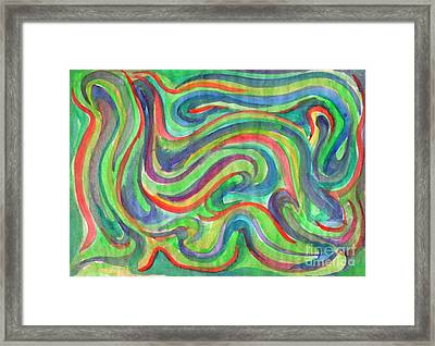 Abstraction In Summer Colors Framed Print