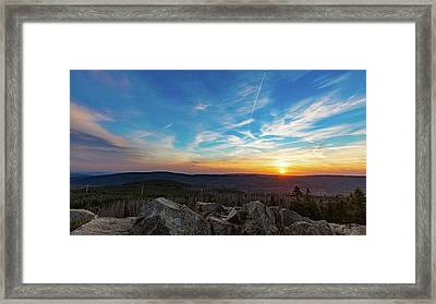 Framed Print featuring the photograph Achtermann Sunset, Harz by Andreas Levi