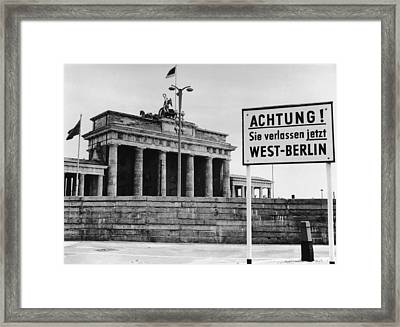 Achtung Framed Print by Central Press